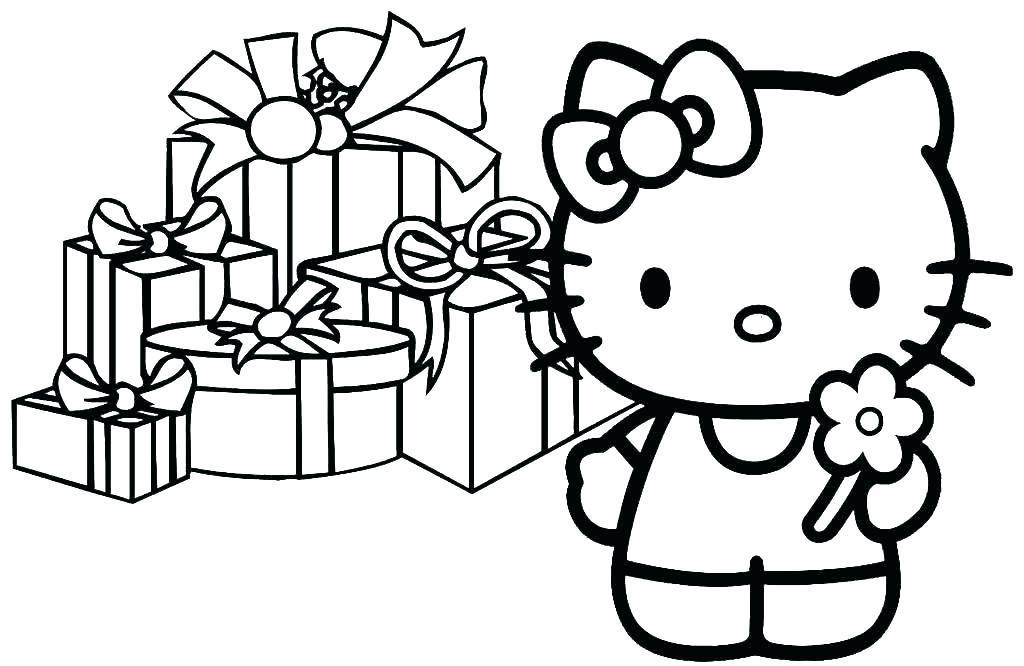 Tranh tô màu Hello Kitty hình vẽ đẹp cho bé tập tô