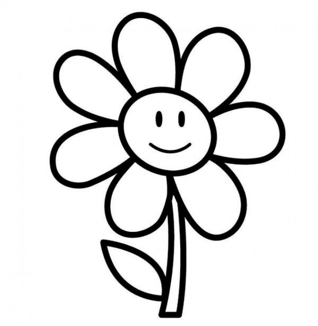 Tranh tô màu hình bông hoa đơn giản nhất