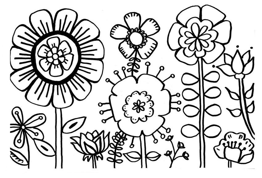 Tranh tô màu hình hoa đẹp và dễ thương nhất