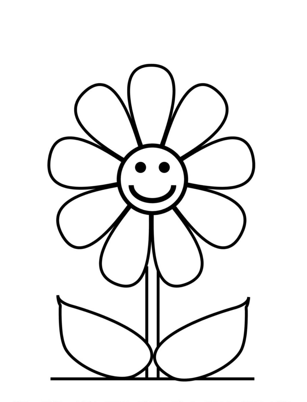 Tranh tô màu hình hoa đơn giản và dễ nhất