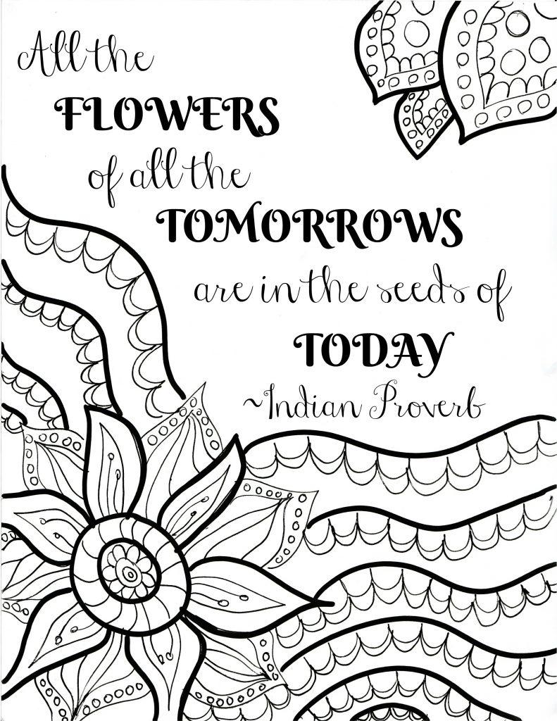 Tranh tô màu hình hoa hướng dương đẹp