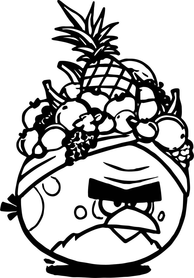 Tranh tô màu hình hoa quả nổi giận cho bé tập tô