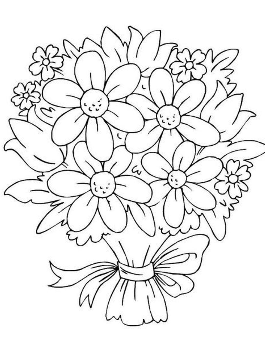 Tranh tô màu hình hoa