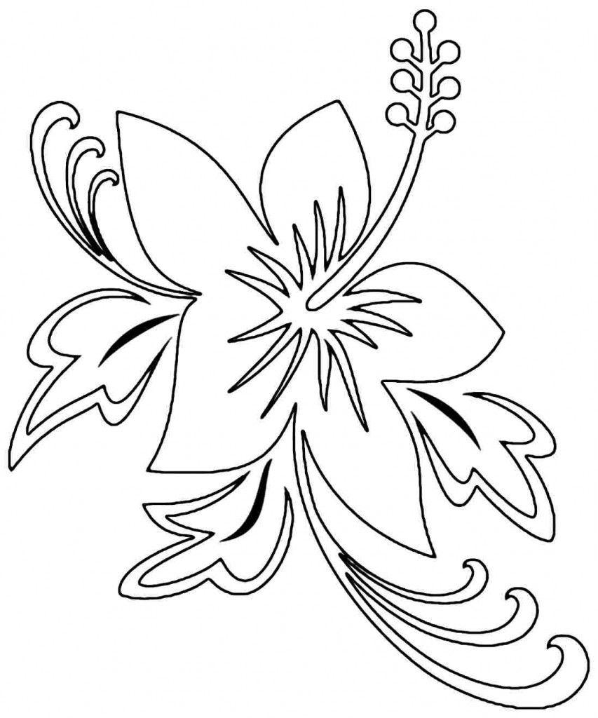 Tranh tô màu hoa dâm bụt đẹp nhất