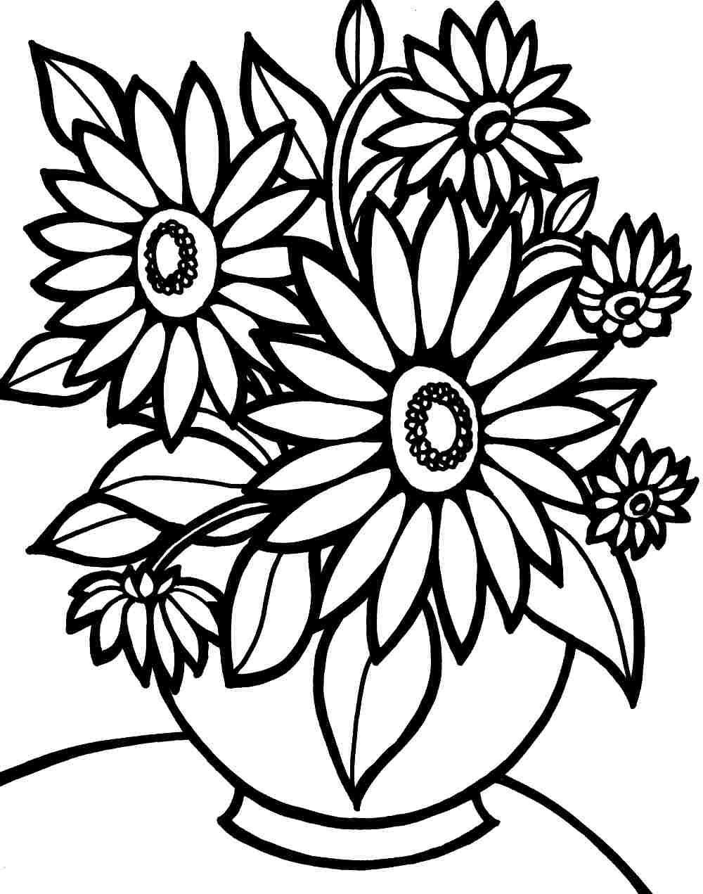 Tranh tô màu hoa hướng dương đẹp nhất