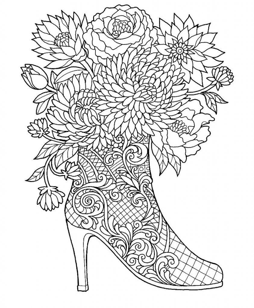 Tranh tô màu hoa nghệ thuật