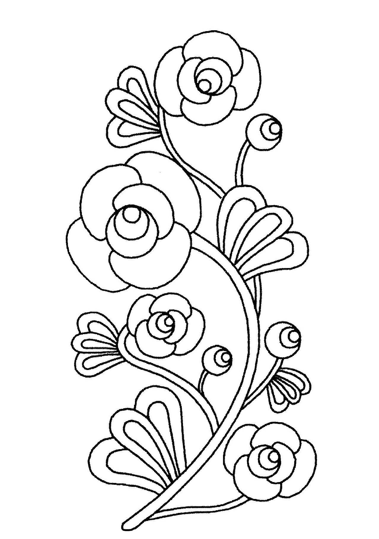 Tranh tô màu khóm hoa đẹp nhất cho bé
