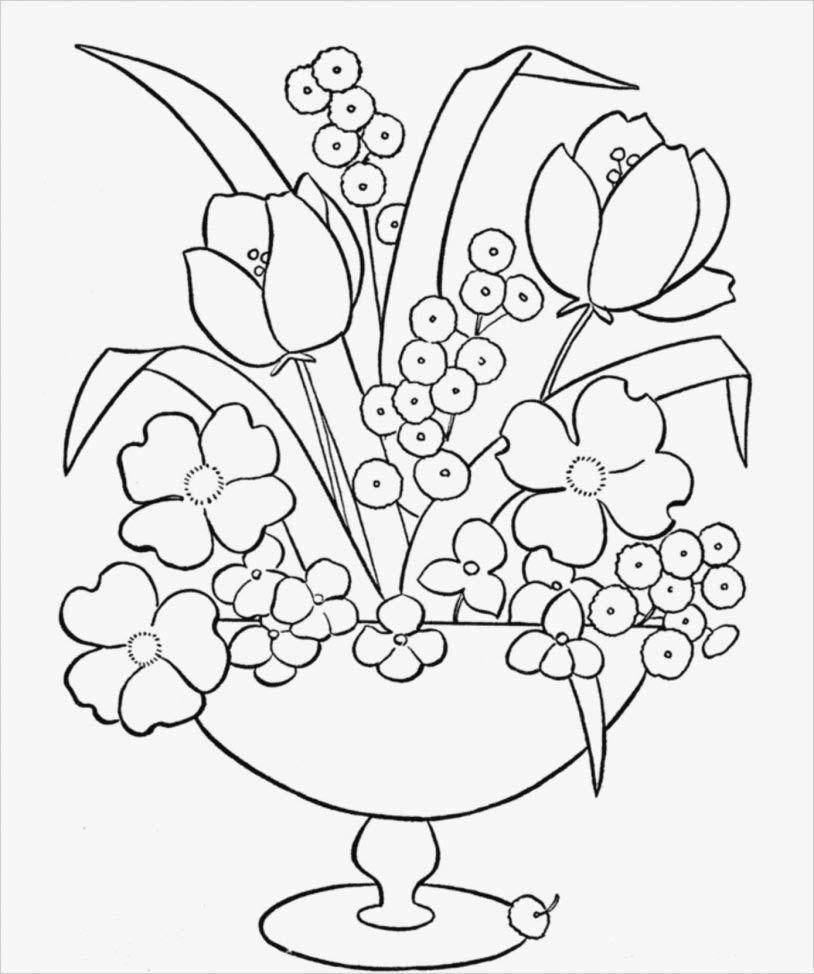 Tranh tô màu lẵng hoa đẹp