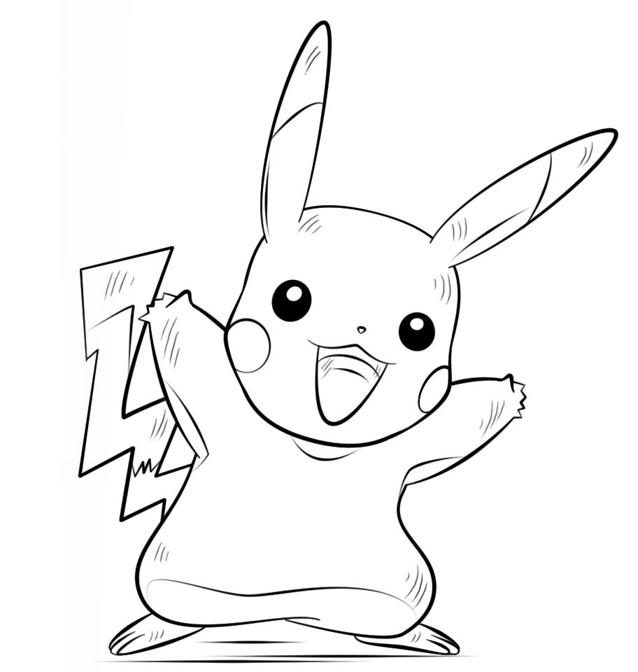Tranh tô màu pokemon cho bé đẹp nhất