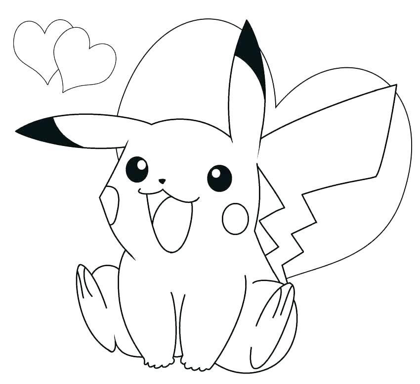Tranh tô màu Pokemon dành cho bé