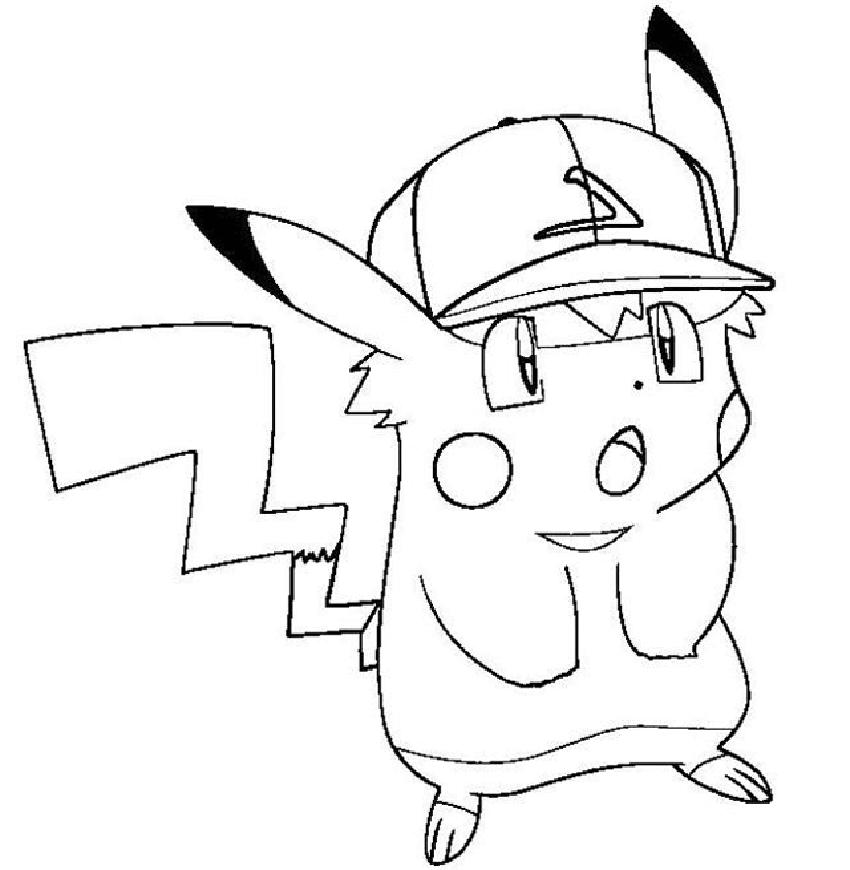Tranh tô màu pokemon đẹp cho bé tập tô