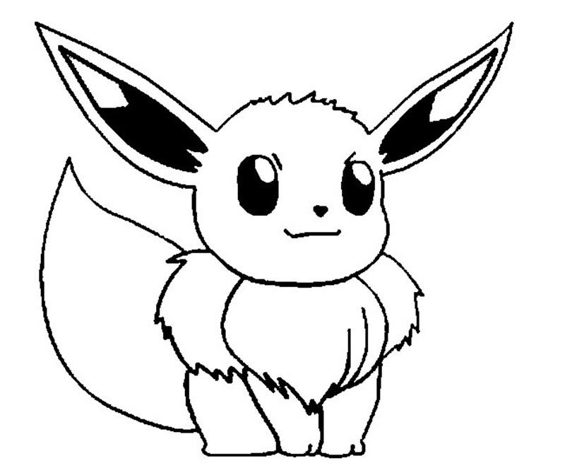 Tranh tô màu Pokemon đẹp cho bé