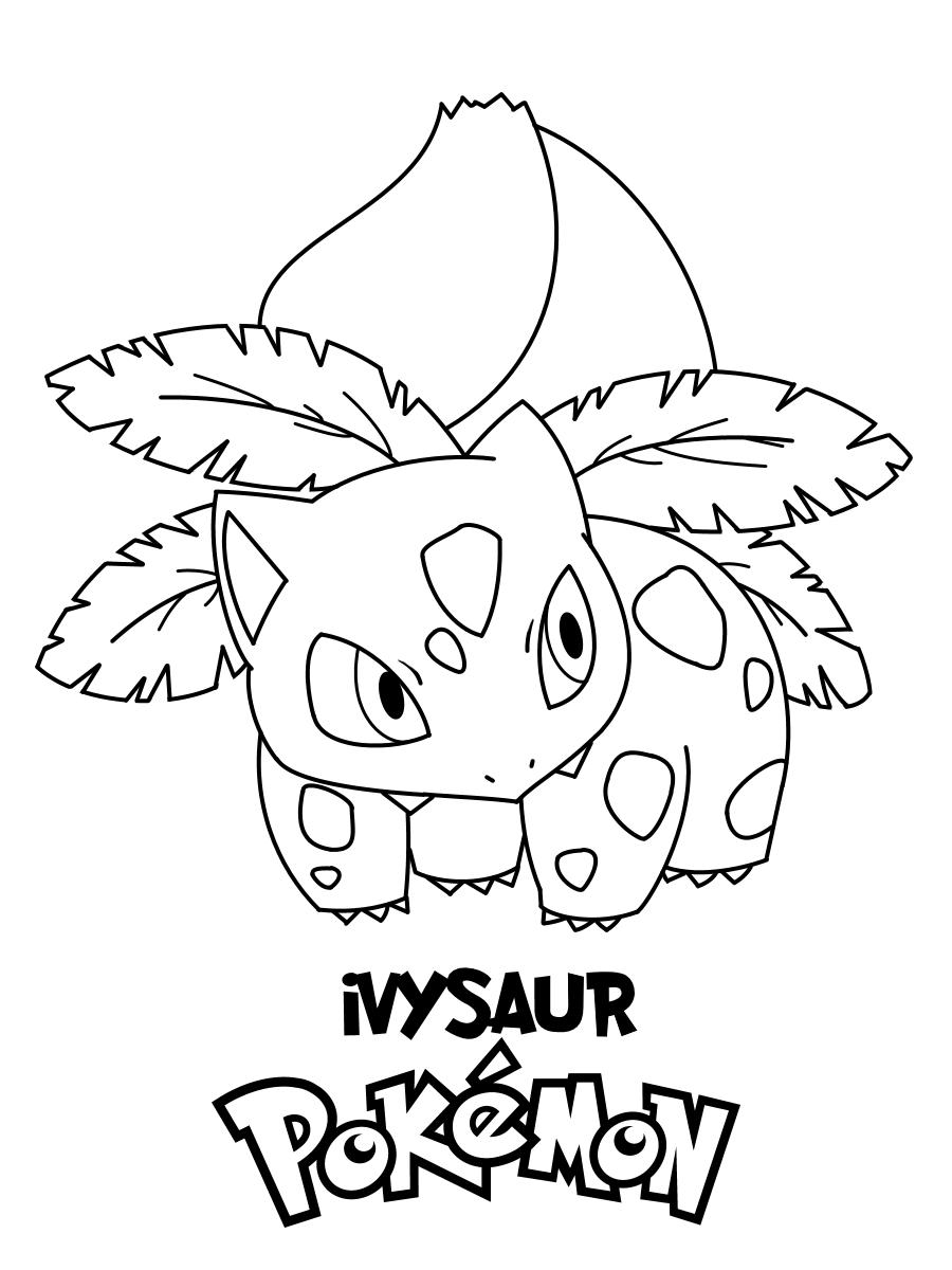 Tranh tô màu Pokemon đẹp nhất