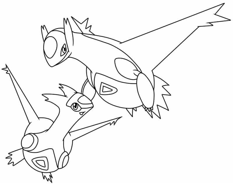 Tranh tô màu Pokemon huyền thoại cho bé