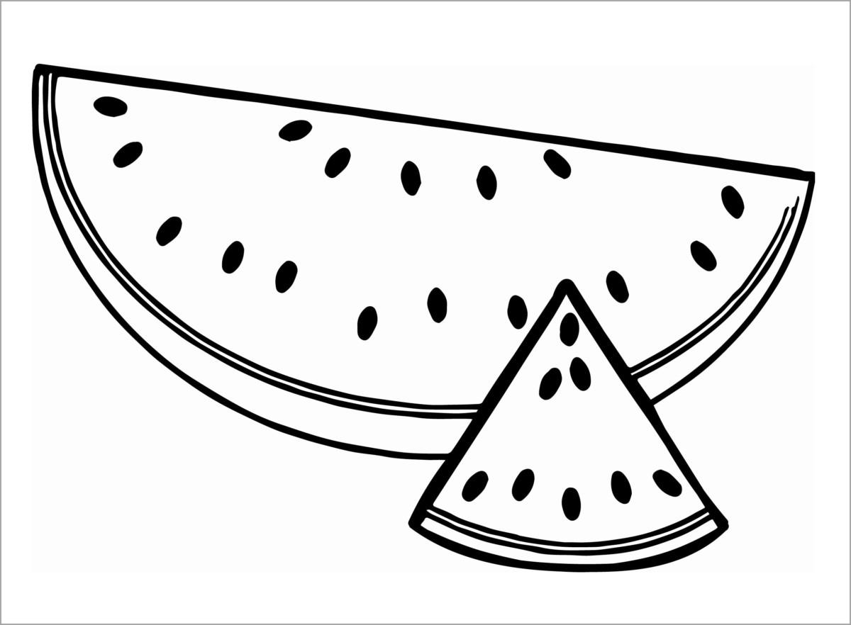 Tranh tô màu quả dưa hấu cho bé tập tô