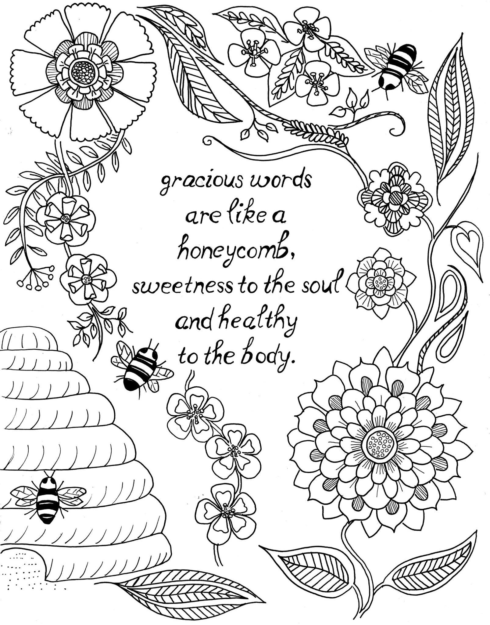 Tranh tô màu thiệp hình bông hoa đẹp nhất
