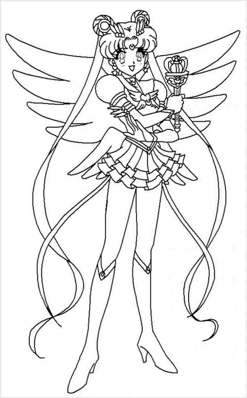 Tranh tô màu thủy thủ mặt trăng trong bộ váy công chúa đẹp nhất