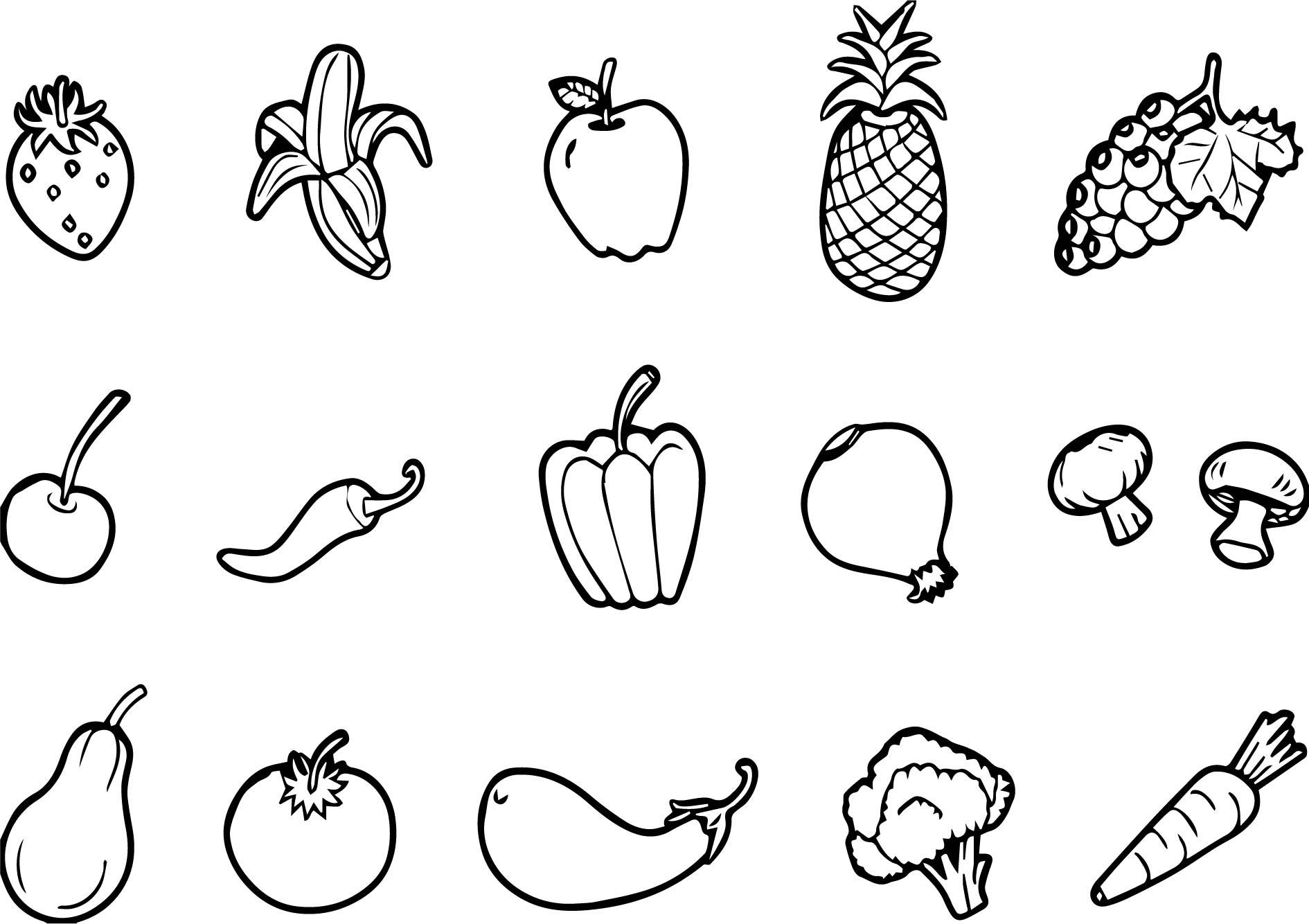 Tranh tô màu trái cây hoa quả