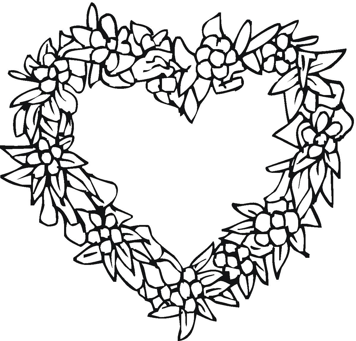 Tranh tô màu vòng hoa đẹp nhất