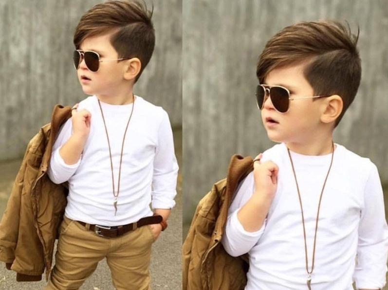 Kiểu tóc mái lệch cho bé trai đẹp nhất