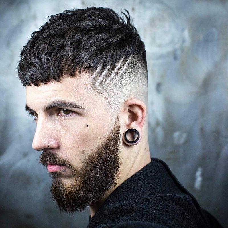 Những kiểu tóc nam mái ngố xéo đẹp nhất