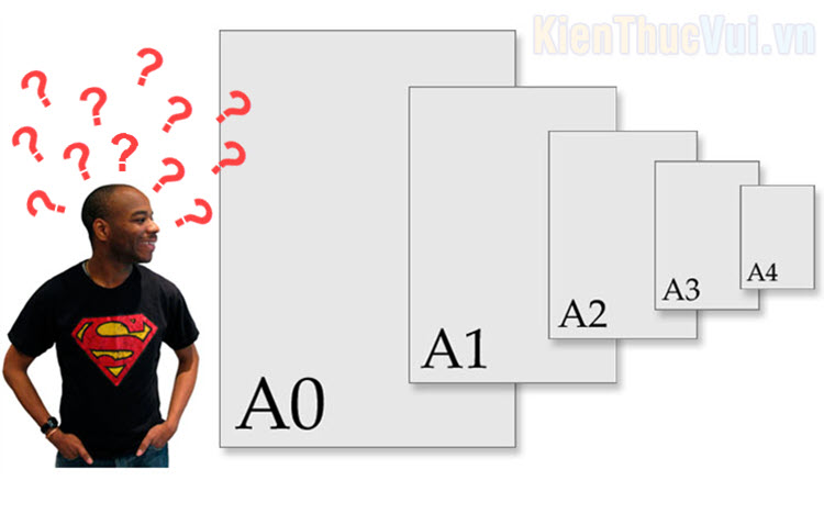 Kích thước, Size khổ giấy A0, A1, A2, A3, A4, A5, A6, A7 chuẩn