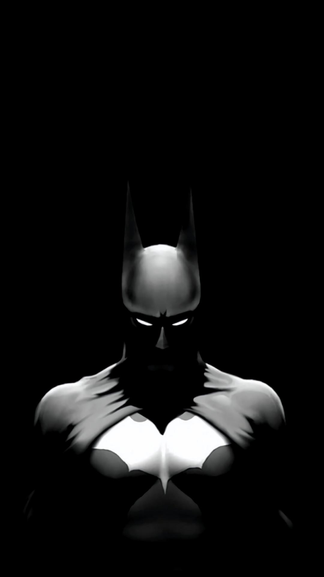 Hình nền Batman trắng đen đẹp nhất cho điện thoại