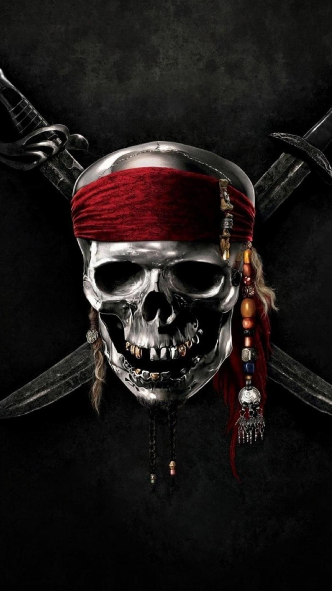 Hình nền đen cướp biển 3D chất lượng HD cho điện thoại
