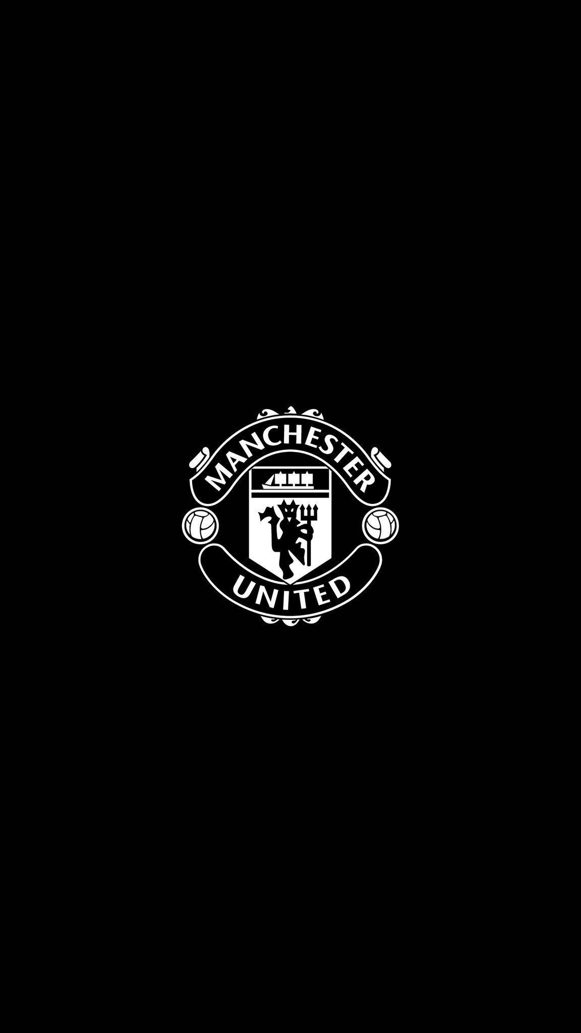 Hình nền đen Manchester United cho điện thoại