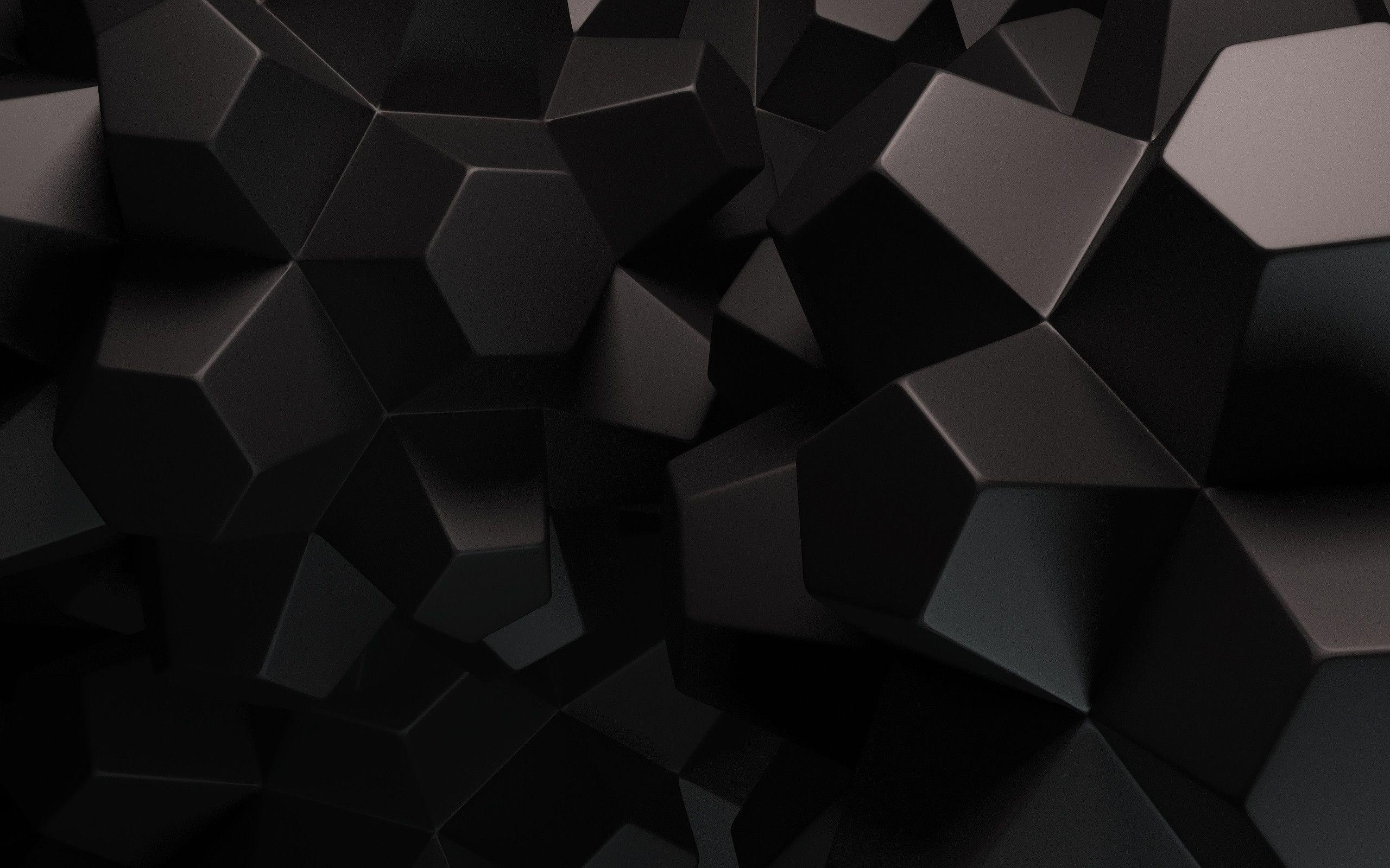 Hình nền màu đen 3D cho máy tính