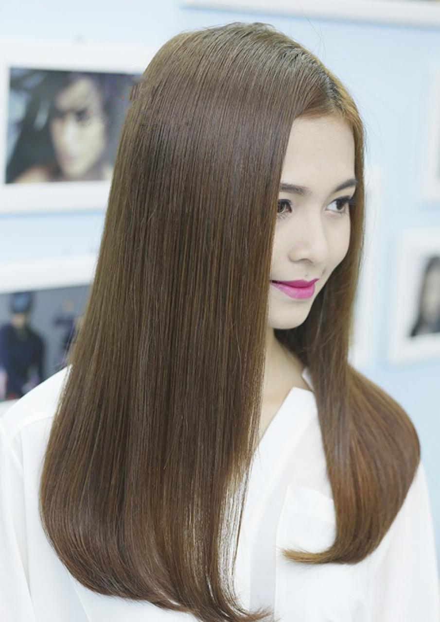 Kiểu tóc duỗi cúp ngang lưng đẹp nhất