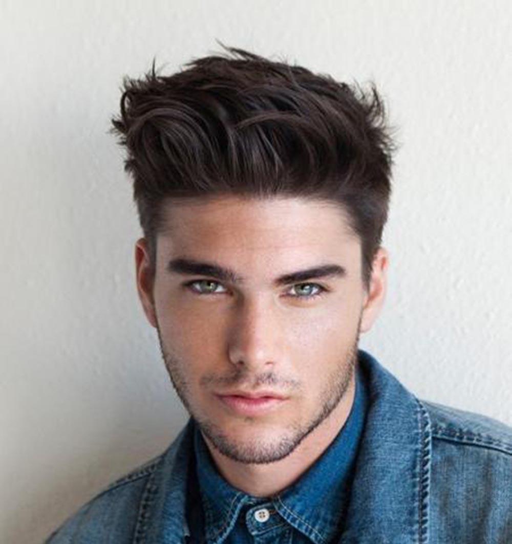 Kiểu tóc nam dành cho mặt tròn mập