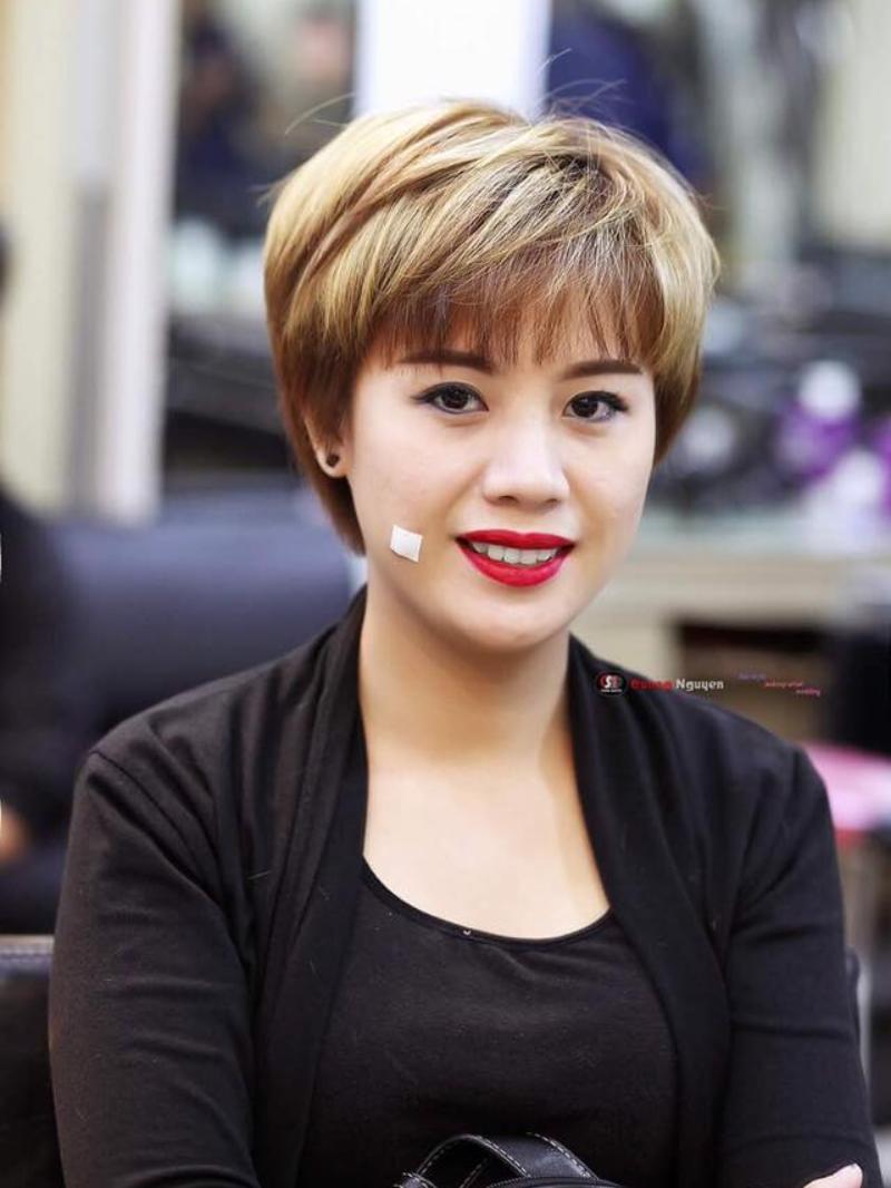 Kiểu tóc ngắn cho nàng mặt vuông to đẹp nhất