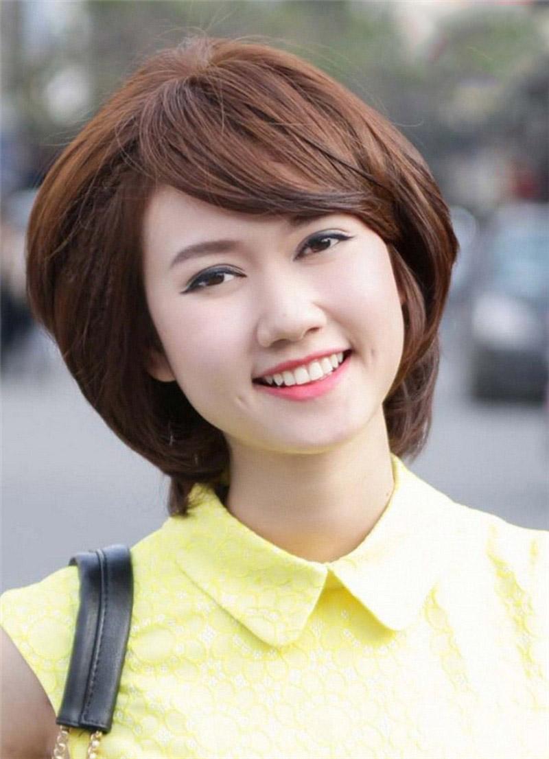 Kiểu tóc ngắn cho người mặt vuông to đẹp nhất