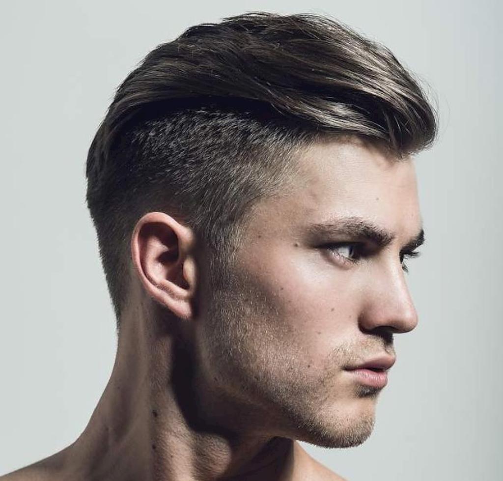 Kiểu tóc Side Part (Hất một bên) cho nam có khuôn mặt tròn mập