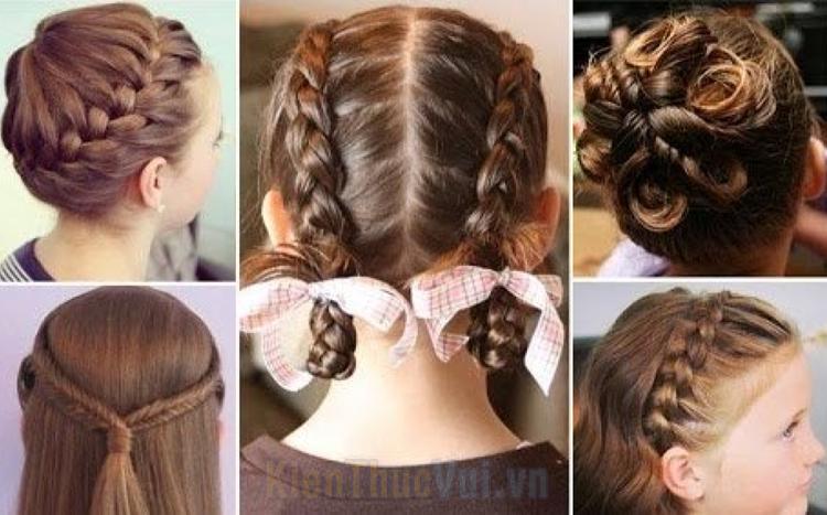 Các kiểu buộc tóc đẹp cho bé gái