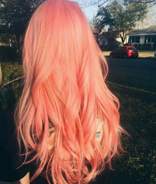 Ảnh tóc màu hồng cam rực rỡ hơn cả nắng