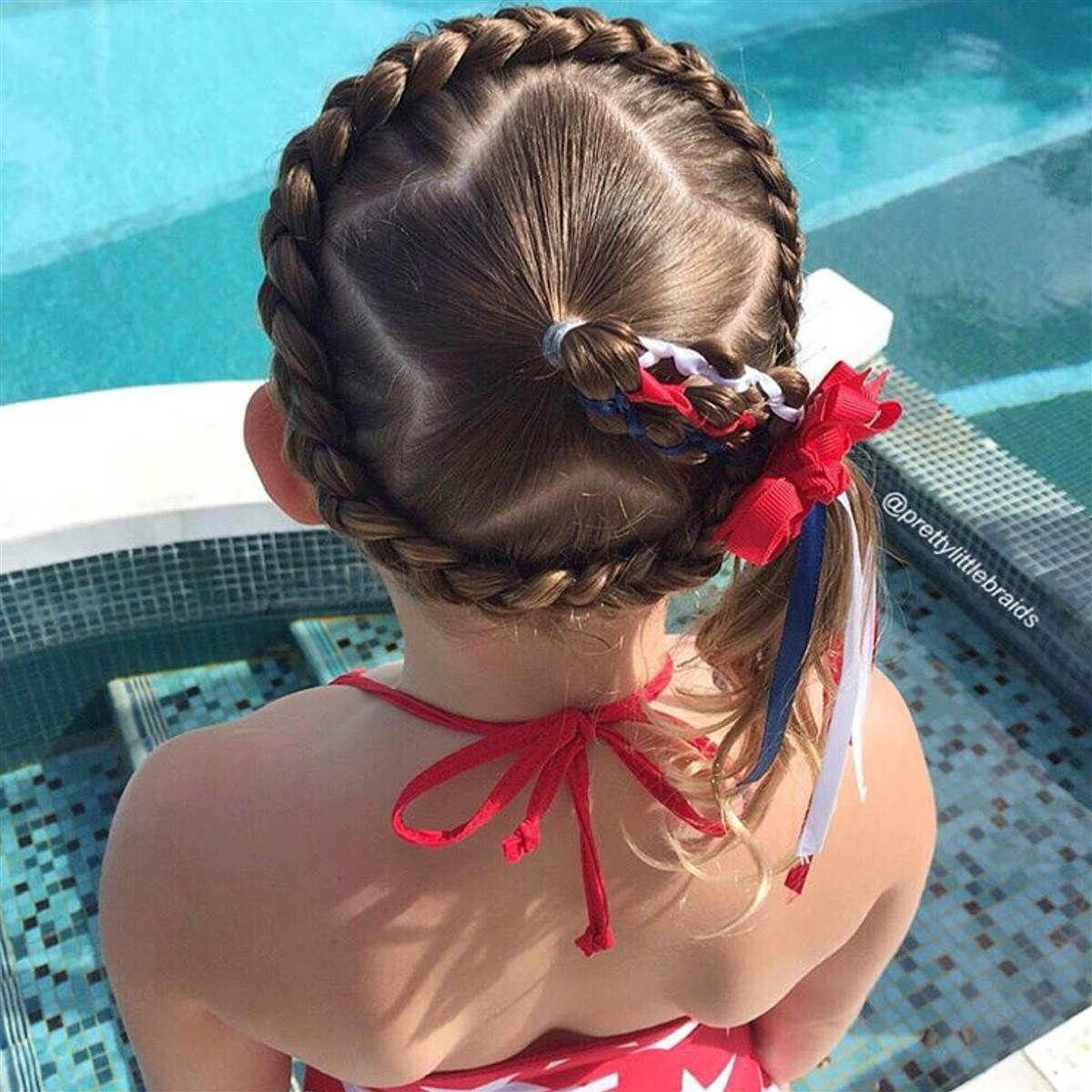 Kiểu buộc tóc cute cho bé gái