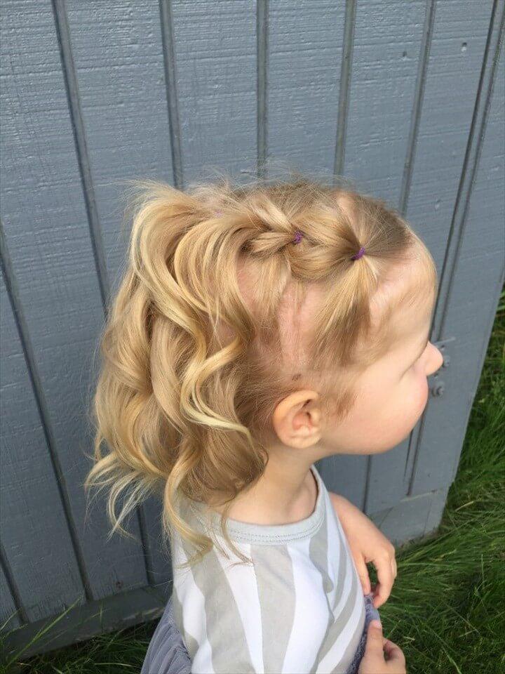 Kiểu buộc tóc đẹp, dễ thương cho bé gái