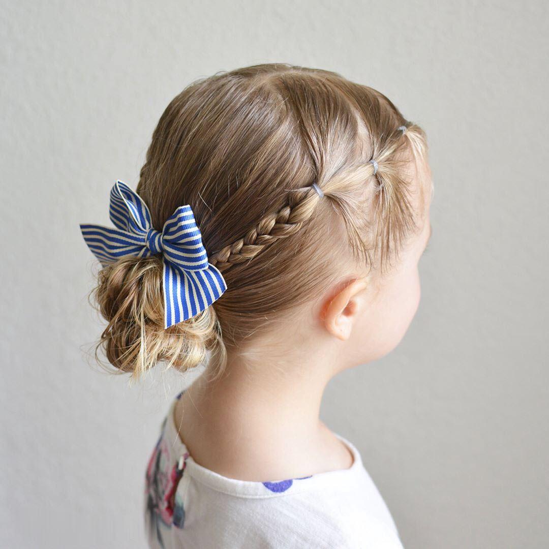 Kiểu cột tóc cho bé gái đẹ