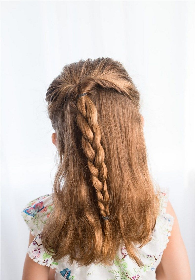 Kiểu tết tóc cho bé gái đơn giản