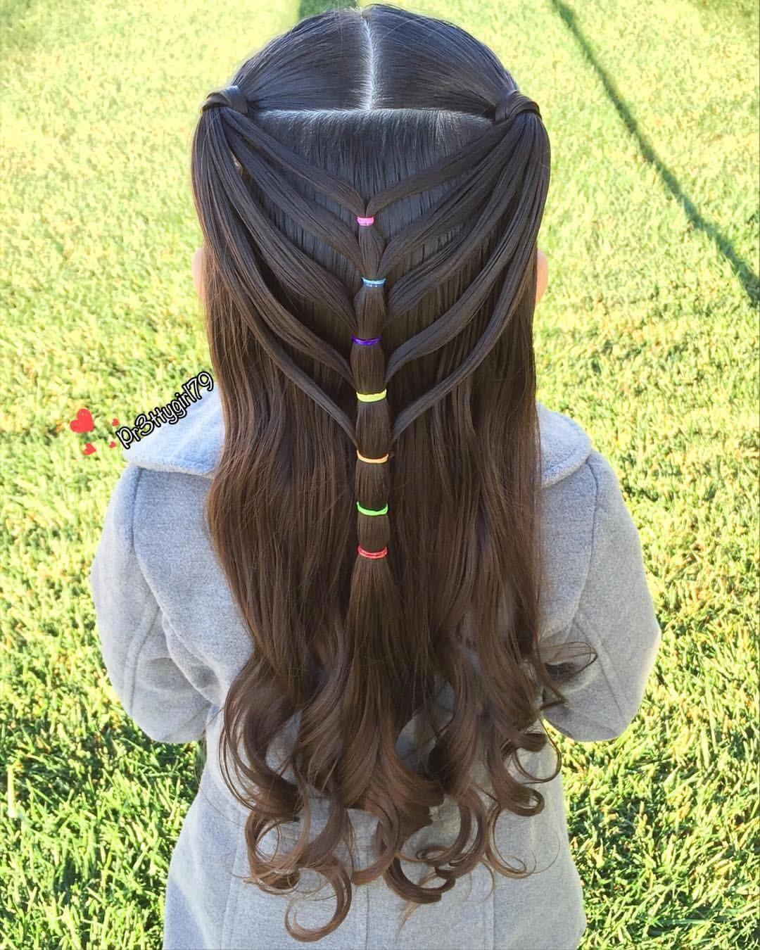 Kiểu tết tóc cho bé gái tóc dài đẹp