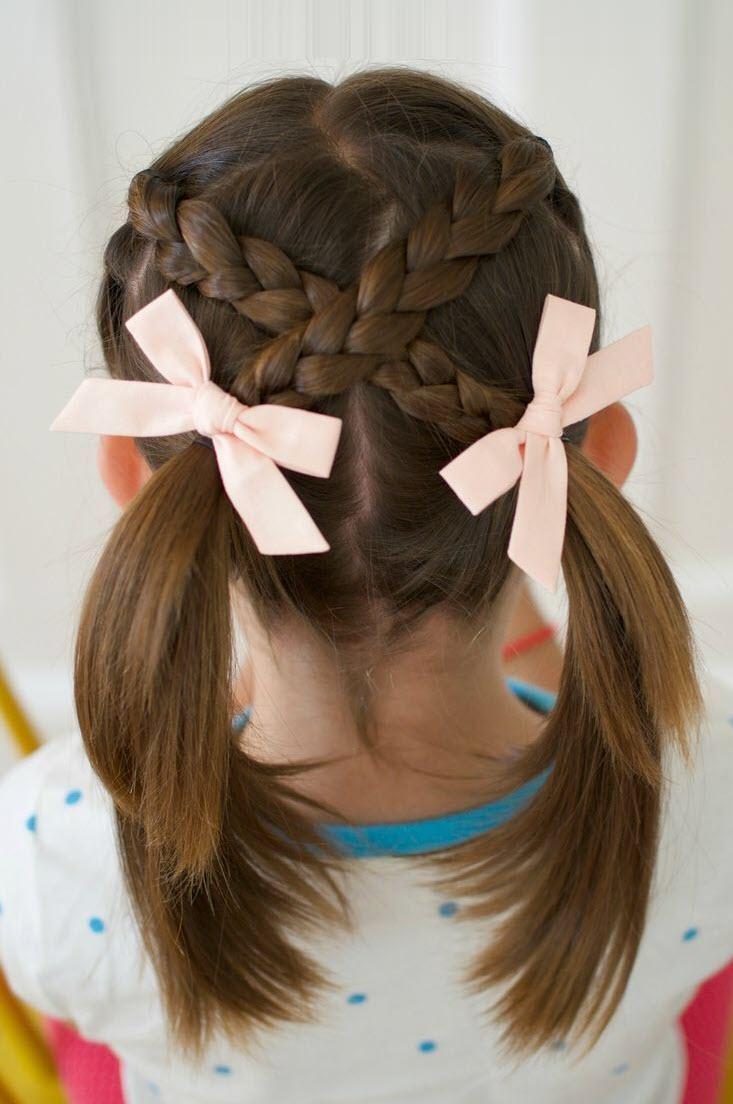 Kiểu tết tóc dễ thương cho bé gái