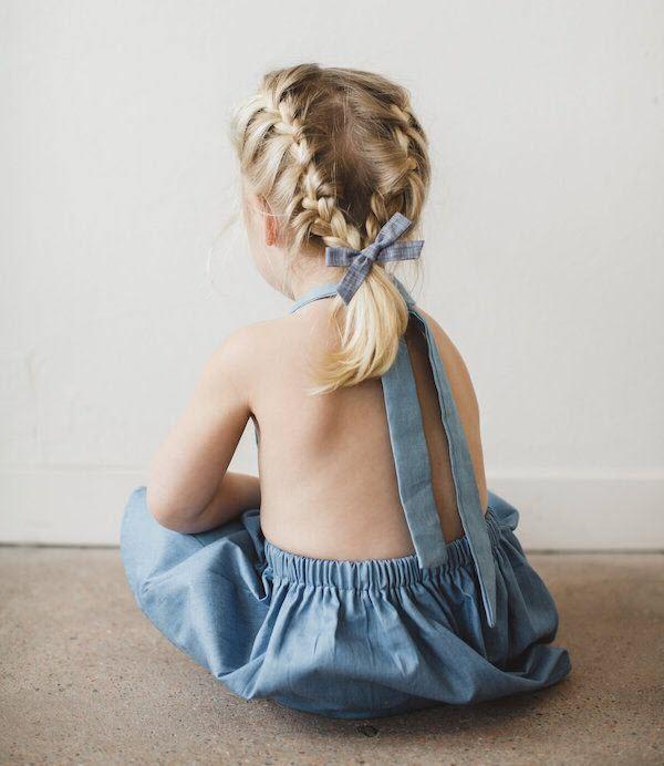 Kiểu tết tóc đơn giản cho bé gái