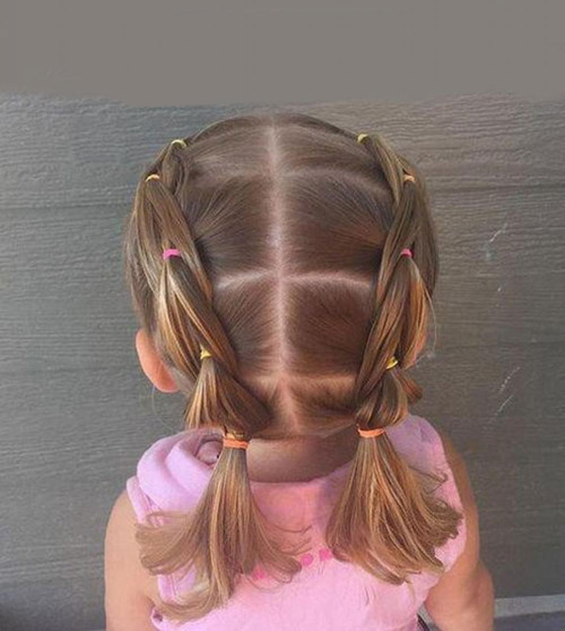 Kiểu tóc bé gái đi học đẹp