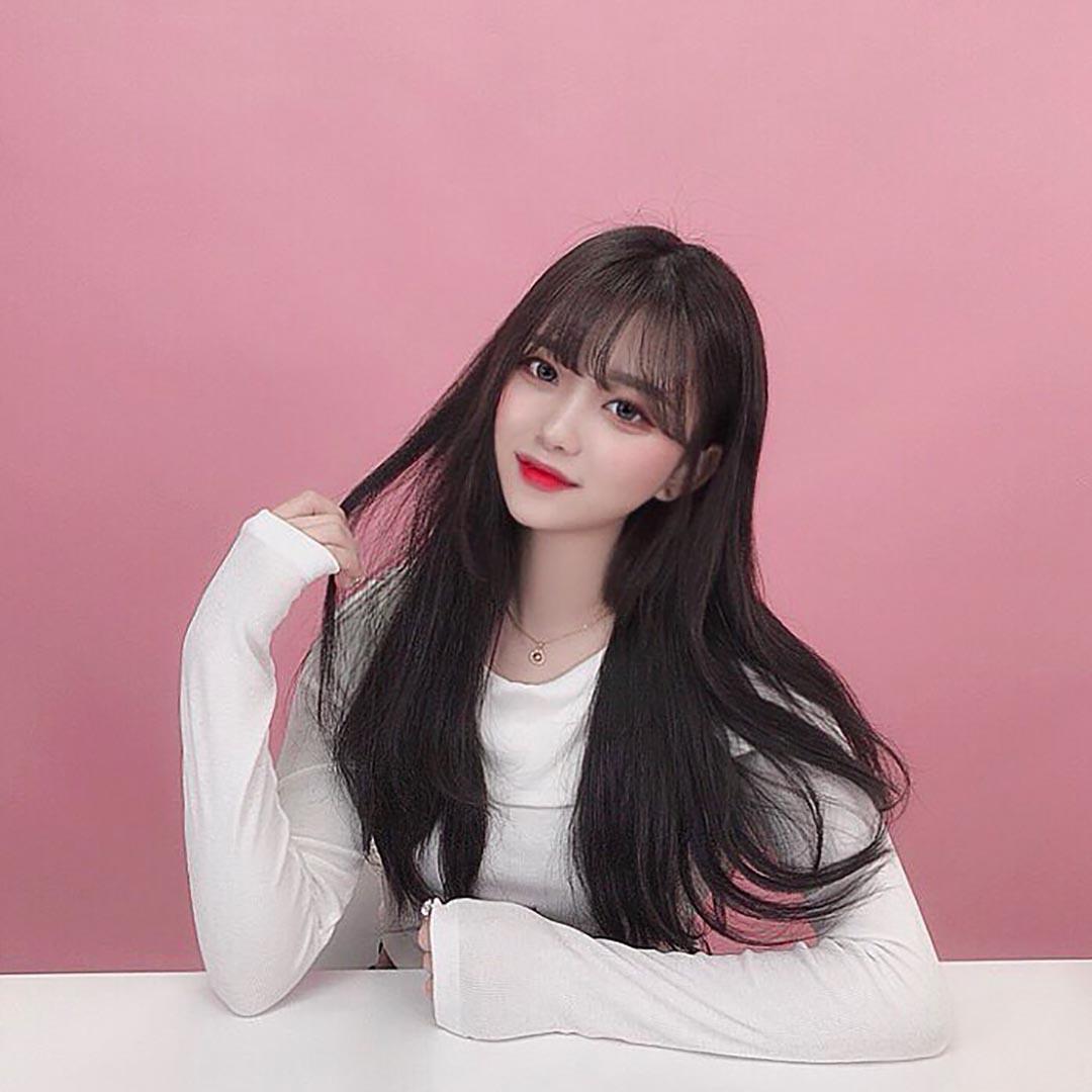 Kiểu tóc dài mái thưa Hàn Quốc đẹp nhất