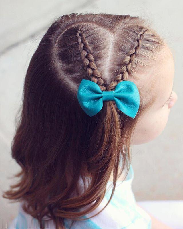 Kiểu tóc dễ thương cho bé gái