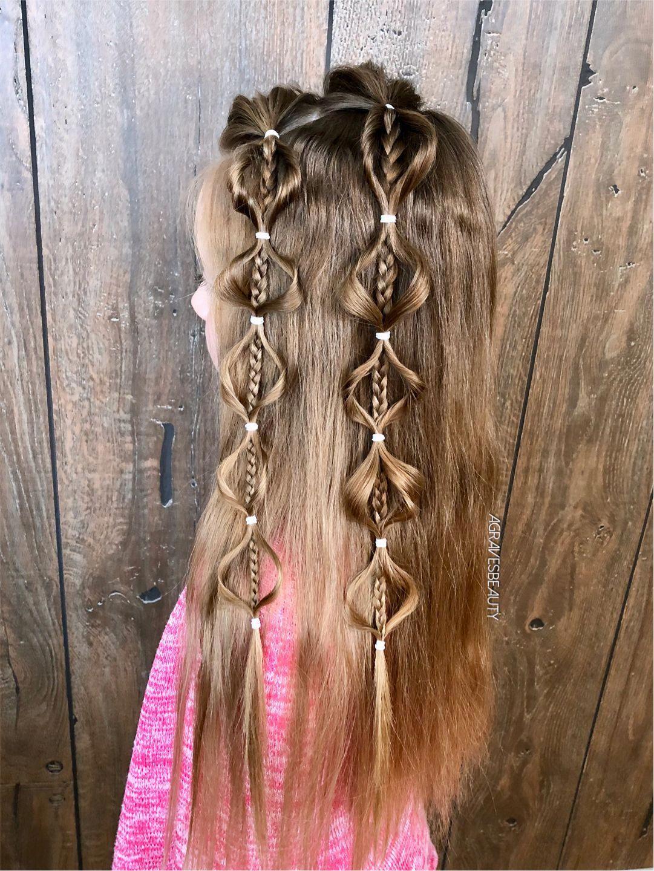 Kiểu tóc đẹp cho bé gái tóc dài và dày