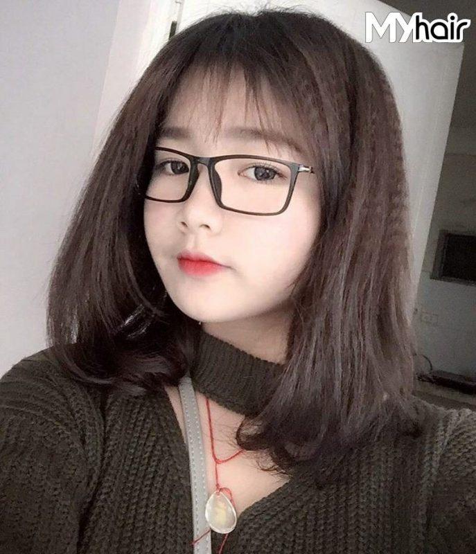 Kiểu tóc ngắn uốn cụp dập xù đẹp