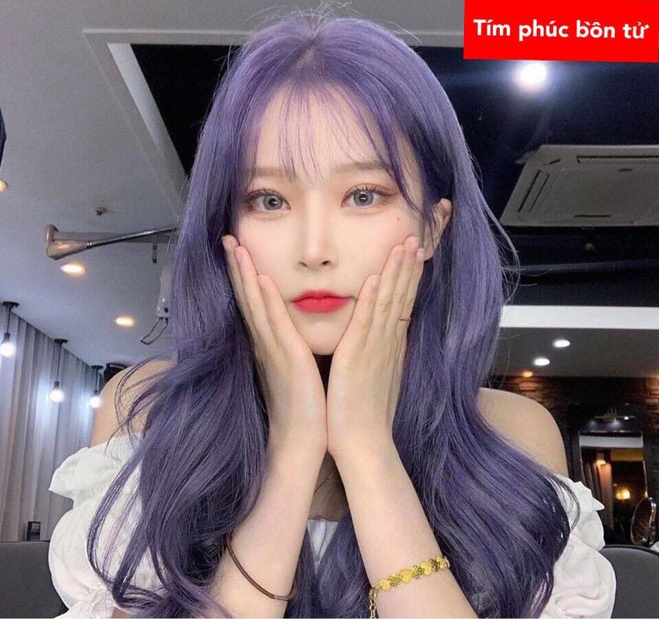 Tóc màu tím phúc bồn tử